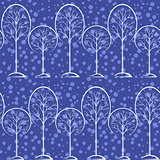 Trees, Seamless Background