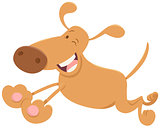running funny dog cartoon