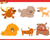 cute dog cartoon characters set