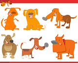 cute dog animals set