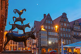 The Bremen Town Musicians in Bremen, Germany