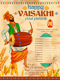 Happy Vaisakhi Punjabi festival celebration background