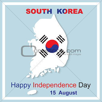 15 August Happy Independence Day South Korea