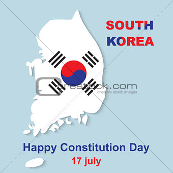 15 August Happy Constitution Day South Korea