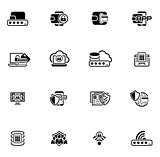 Flat Design Security and Protection Icons Set.