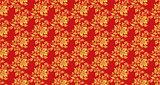 Hohloma seamless pattern texture vector