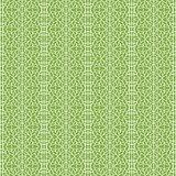 Ornament on greenery seamless pattern background