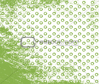 Greenery doodle stroke and dot seamless pattern