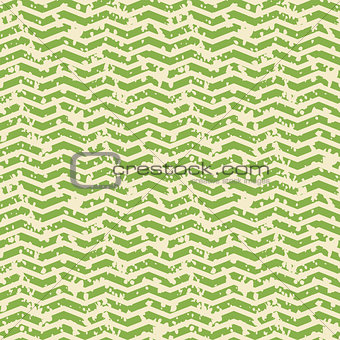 Greenery and white zigzag spotted seamless pattern