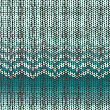 Knitted seamless pattern, shevron wool embroidery