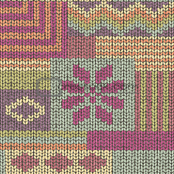 Knit texture, wool seamless pattern vector