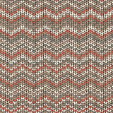 Knitted pattern, zigzag seamless wool wallpaper