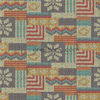 Knitting wool pattern, seamless fabric texture