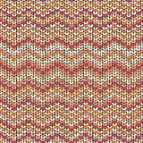 Knitting pattern, zigzag seamless wool background