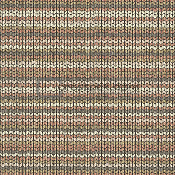 Knited wool repeat wrapping pattern