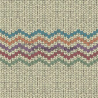 Knitting pattern, seamless wool ornament