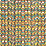 Zigzag knitted seamless pattern vector
