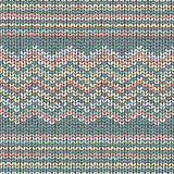 Fabric knitted texture, zigzag seamless pattern