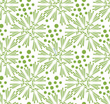 Greenery dandelion seamless pattern wallpaper