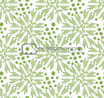 Greenery dandelion seamless pattern wallpaper