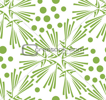 Green floral dandelion seamless pattern background
