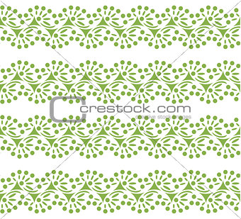 Greenery lace seamless pattern background vector
