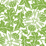 Greenery dandelion seamless pattern background