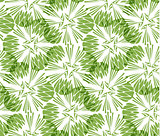 Greenery taraxacum seamless pattern background