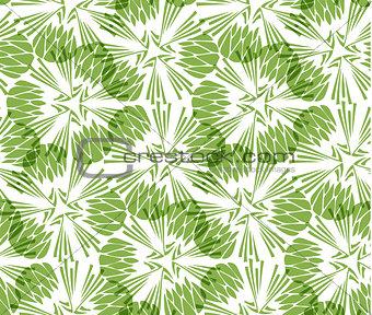 Greenery taraxacum seamless pattern background