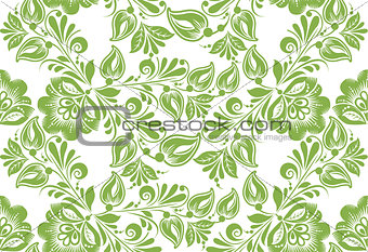 Greenery floral seamless pattern background