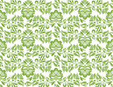 Greenery flower leaves seamless pattern background