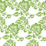 Greenery floral leaves seamless pattern background