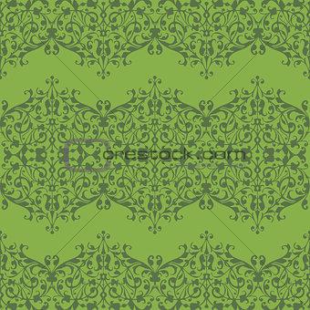 Green spring seamless pattern texture vector