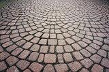 Stone pavement pattern.