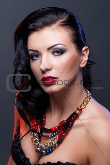 Beautiful girl  with necklace