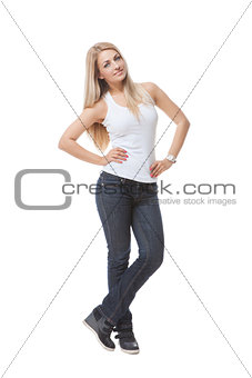 Beautiful girl in jeans