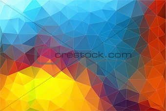 Flat Horizontal Abstract 2D geometric colorful background