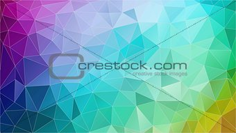 Abstract triangle geometric colorful background