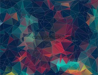Flat Retro triangle Background. geometric shapes. . Colorful mosaic pattern.