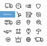 Shipment and delivery icons