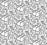 Monochrome Hand Drawn Floral Pattern