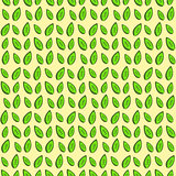 Decorative seamless texture with green leaves