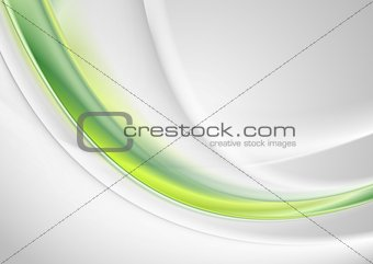 Green and grey abstract smooth waves design