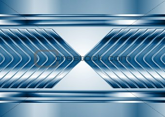 Abstract blue metal tech arrows background