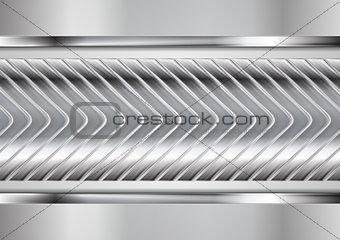 Abstract metallic arrows vector tech design