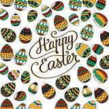 Happy Easter. Unique lettering poster.