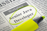 We're Hiring Senior Java Developer. 3d.