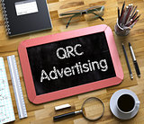 Small Chalkboard with QRC Advertising Concept. 3d.