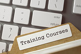 Folder Index with Inscription Training Courses. 3d.