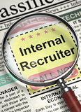 Internal Recruiter Hiring Now. 3D.